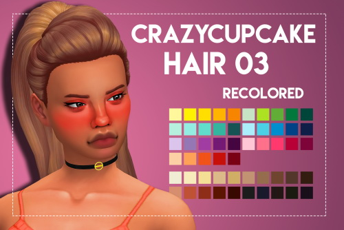 Weepingsimmer: Crazycupcakefr's Hair 03 recolored for Sims 4
