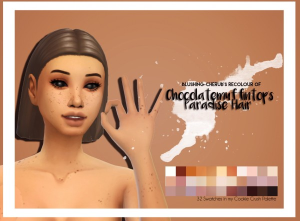 Simsworkshop: Paradise hair recolored by Blushing Cherub for Sims 4