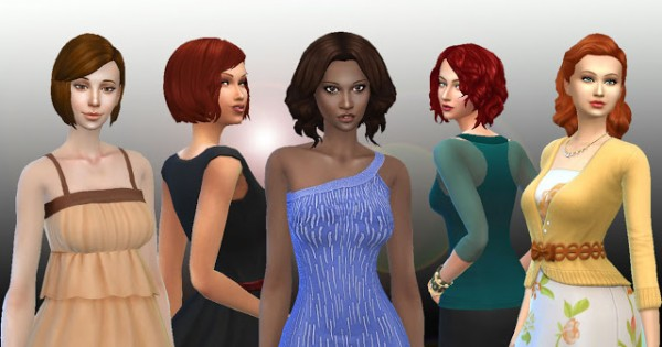 Mystufforigin: Medium Hairs Pack 2 for Sims 4