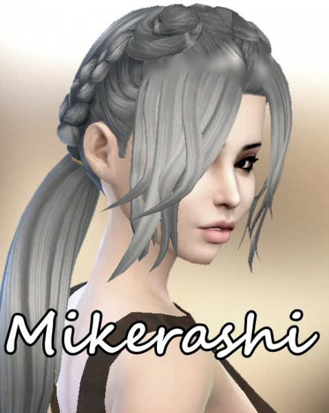 Mikerashi: Crossroads Hair for Sims 4
