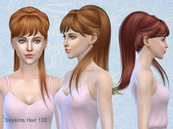 Butterflysims: Hair 133 by Skysims for Sims 4