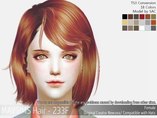 MAY Sims: May 233F hair retextured for Sims 4