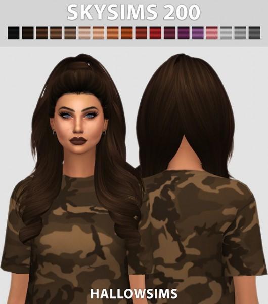 Hallow Sims: Skysims 200 hair retextured for Sims 4