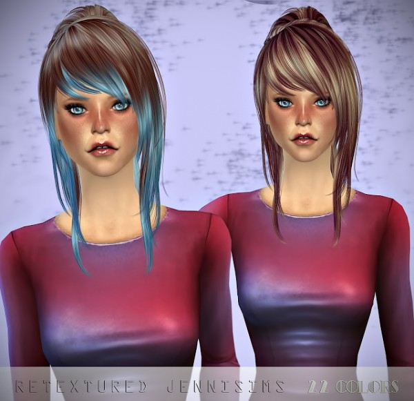 Jenni Sims: Newsea`s Viola Hair retextured for Sims 4