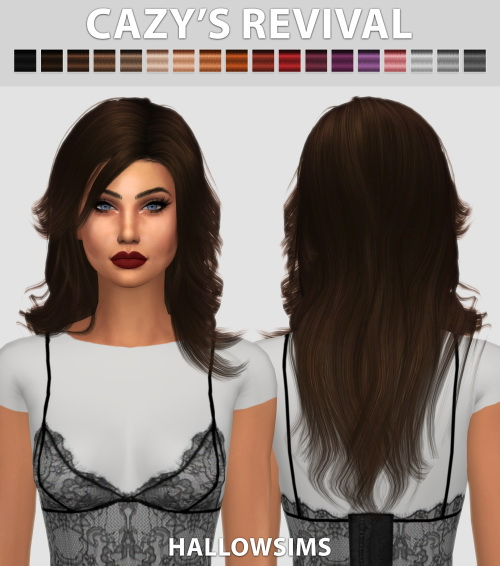 Hallow Sims: Cazy's Revival hair retextured for Sims 4