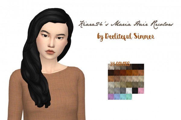 Deelitefulsimmer: Maria hair recolored for Sims 4