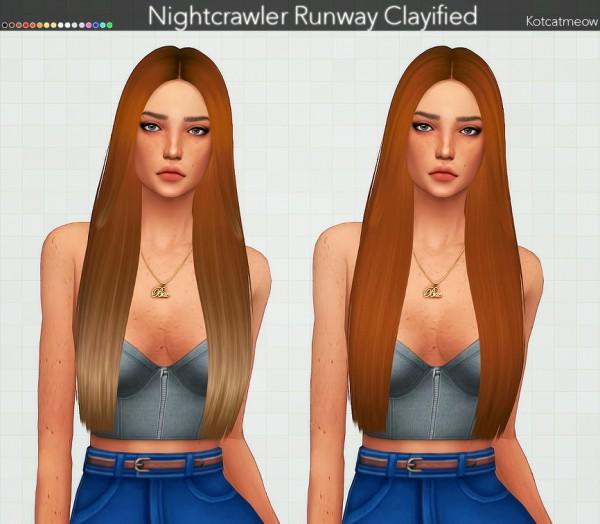 Kot Cat: Nightcrawler`s Runway Hair Clayified for Sims 4