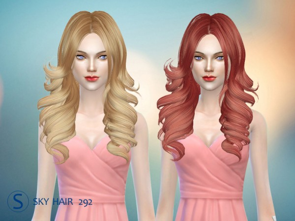 Butterflysims: Hair 292 by Skysims for Sims 4