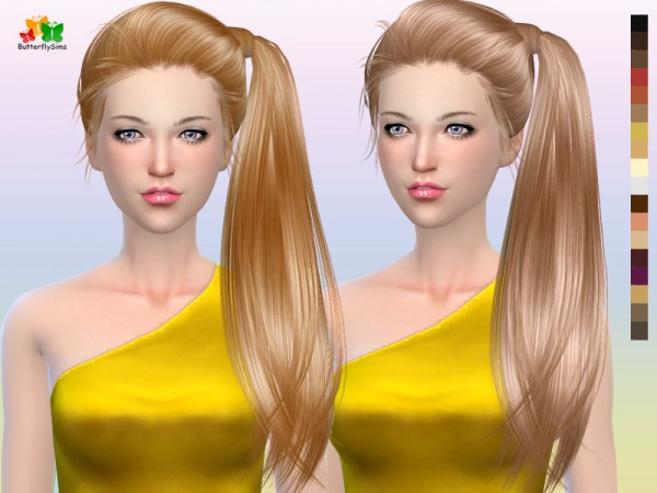 Butterflysims: B flysims hair 164 for Sims 4