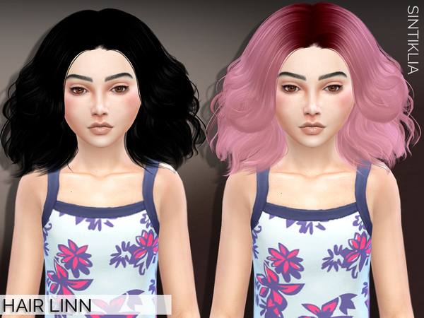 The Sims Resource: Hair Linn for girls by Sintiklia for Sims 4