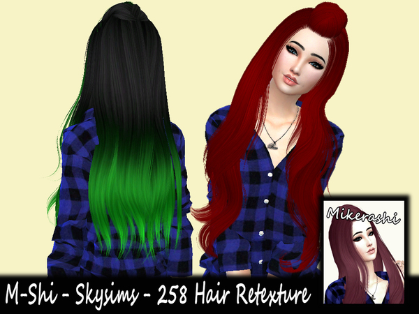 The Sims Resource: Skysims   258 Hair Retextured by Mikerashi for Sims 4