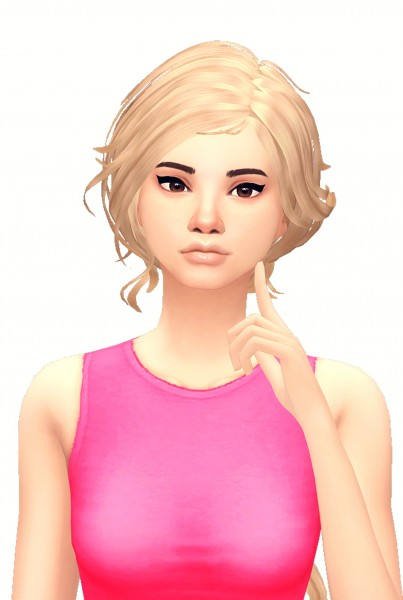 Butterscotchsims: Wings hair clayified for Sims 4