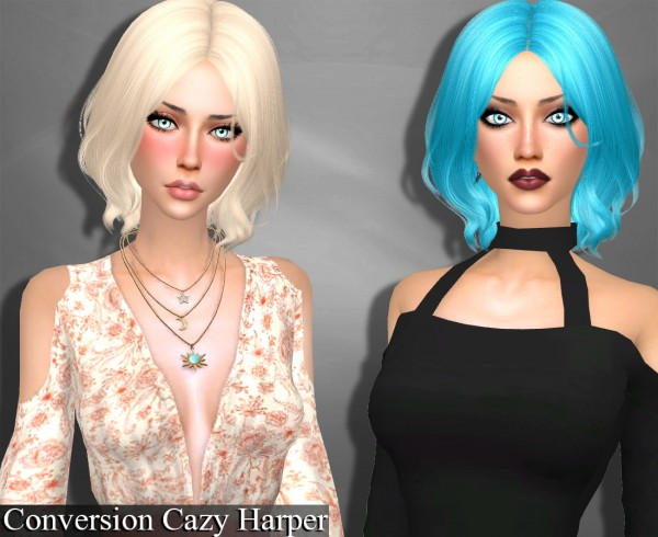 Genius6613: Cazy`s Harper hair retextured for Sims 4
