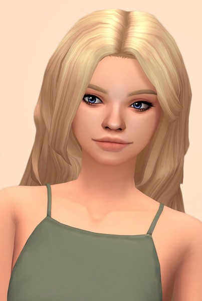 Butterscotchsims: Daffodil hair for Sims 4