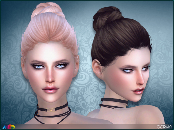 The Sims Resource: Carmin hair by Anto for Sims 4