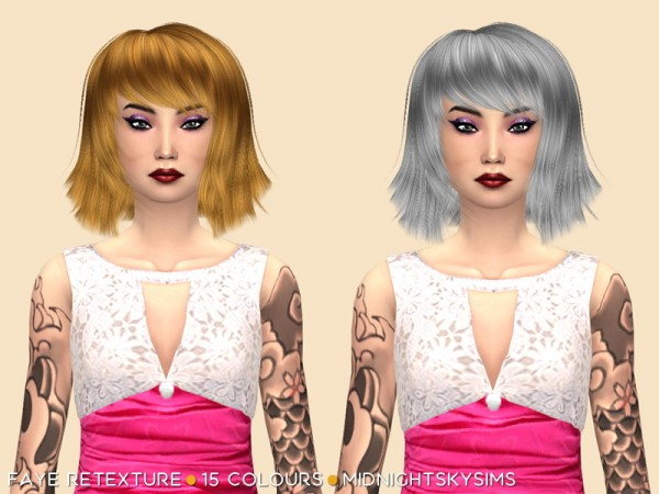 Simsworkshop: Leigh Natural Retextured by midnightskysims for Sims 4