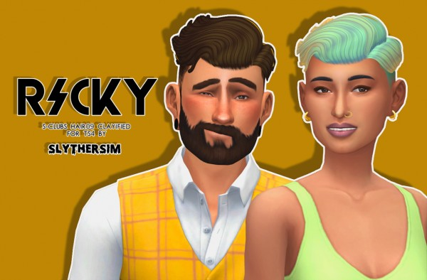 Monolith Sims: S Club's Hair09 Clayified for Sims 4