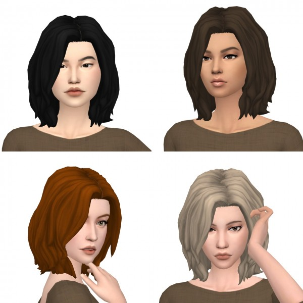 Deelitefulsimmer: Ivo Sims Julia hair recolored for Sims 4