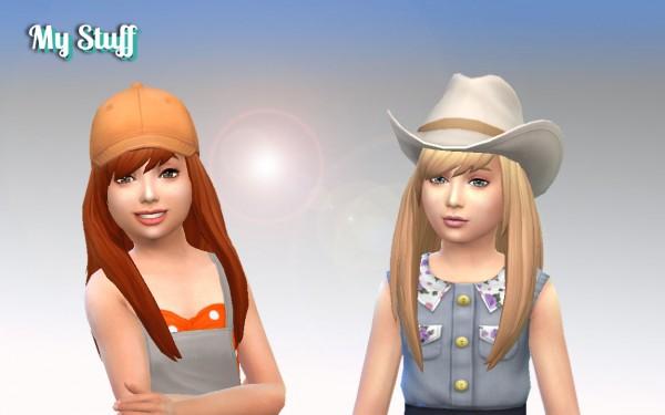 Mystufforigin: Helena hair for girls for Sims 4
