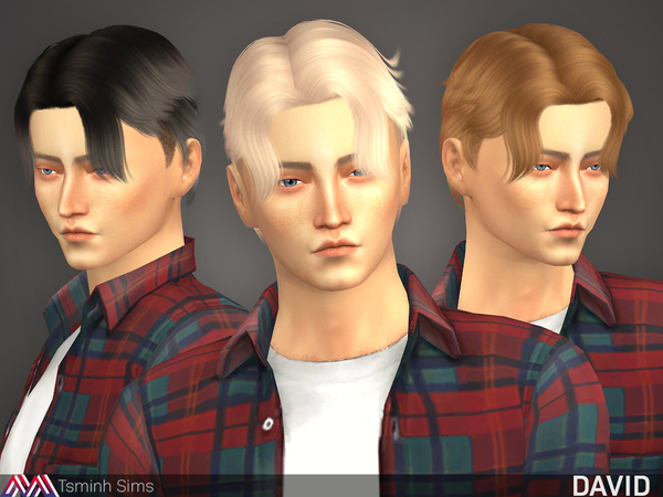 The Sims Resource: David  Hair 22 by tsminh for Sims 4