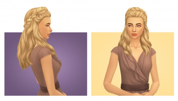 Simsworkshop: Phaedra Hair retextured by Simple Simmer for Sims 4