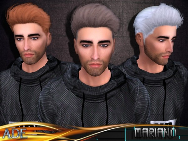 The Sims Resource: Mariano Without Bang by Ade Darma for Sims 4