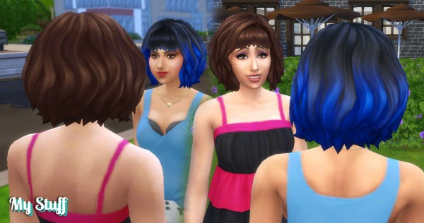 Mystufforigin: Molly Hairstyle for Sims 4