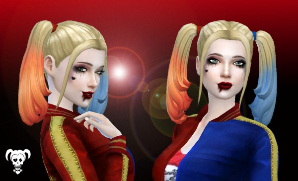 Mystufforigin: Harley Quinn Hairstyle for Sims 4