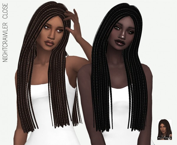 Miss Paraply: Nightcrawler`s Close hair retextured for Sims 4