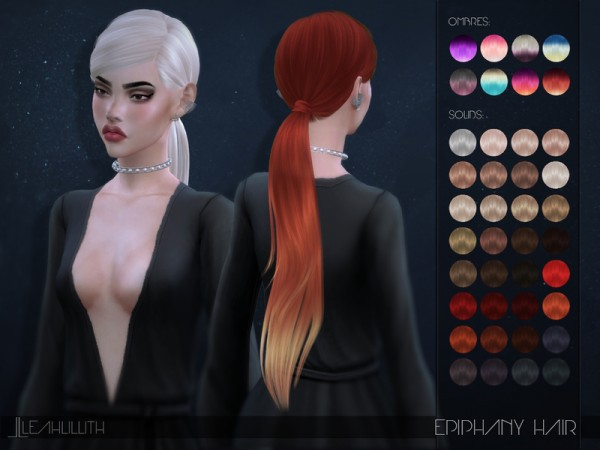 The Sims Resource: Epiphany Hair by LeahLillith for Sims 4
