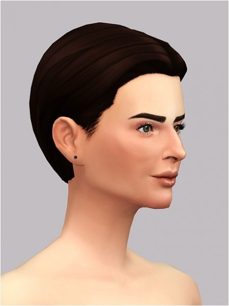 Rusty Nail: Medium center hair for her for Sims 4