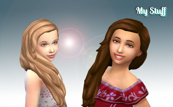 Mystufforigin: Maria Hairstyle for Girls for Sims 4
