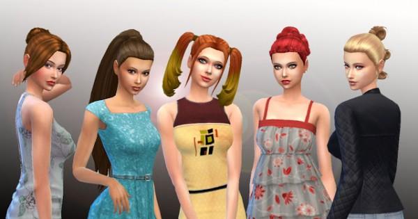 Mystufforigin: Tied Hairs Pack 3 for Sims 4