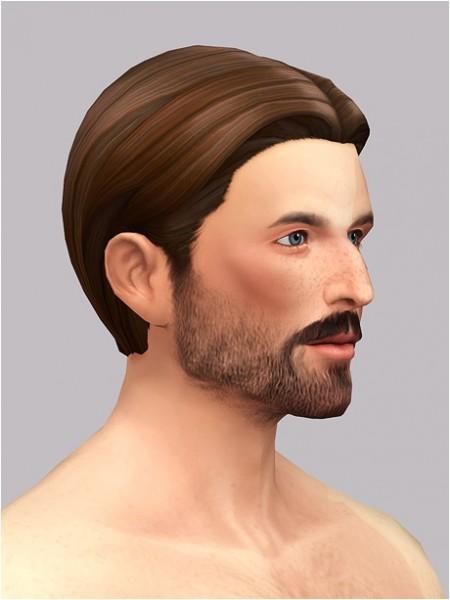 Rusty Nail: Medium center hair for him for Sims 4