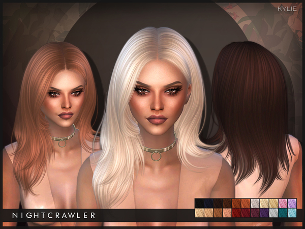 The Sims Resource: Kylie hair by Nightcrawler for Sims 4