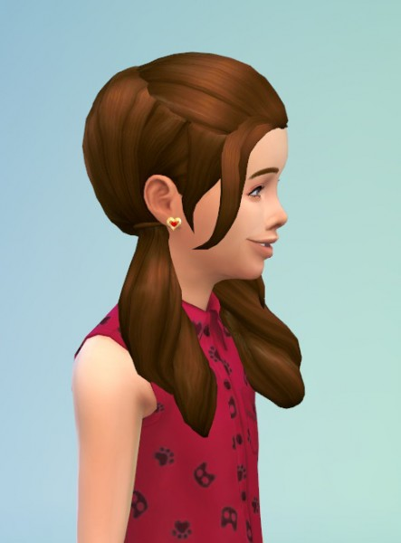 Birksches sims blog: Little Roll'in Pics hair for girls for Sims 4