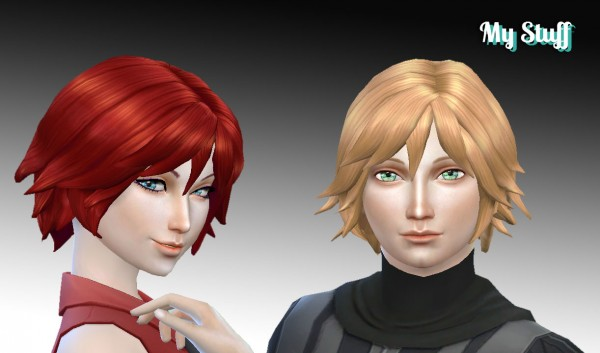 Mystufforigin: Adrien Hairstyle for Sims 4