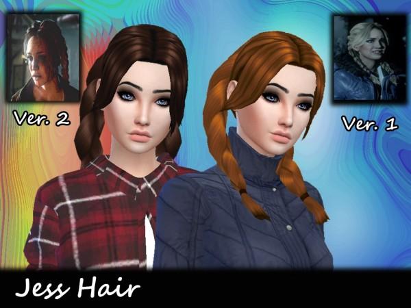 Mikerashi: Jess Hair for Sims 4