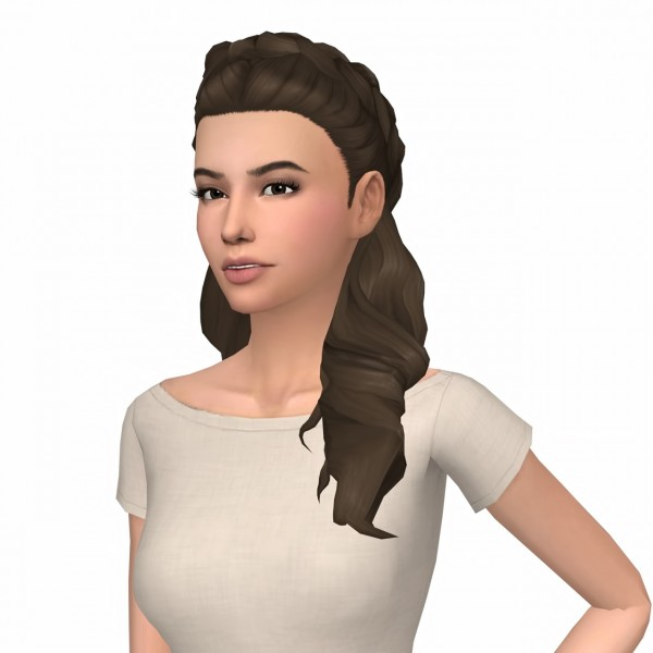 Deelitefulsimmer: Judy's Halfbraids Hair retextured for Sims 4