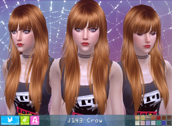 NewSea: J143 Crow hair for Sims 4