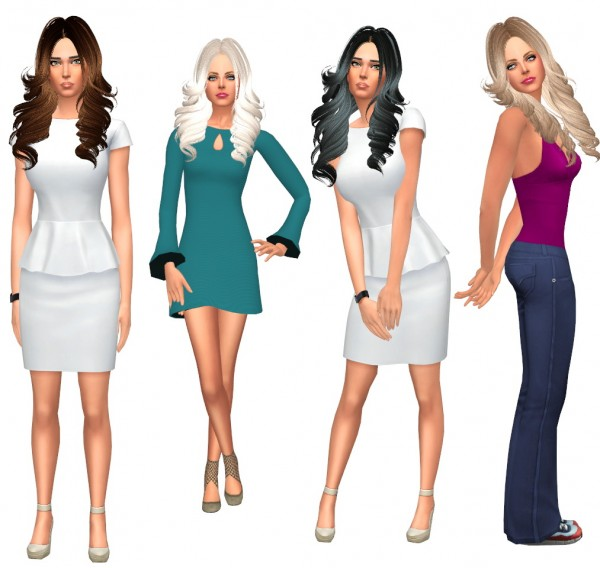 Sims Fun Stuff: Buttdrflys 292 hai retextured for Sims 4