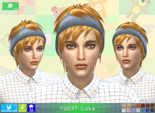 NewSea: YU037 Luke hair for Sims 4