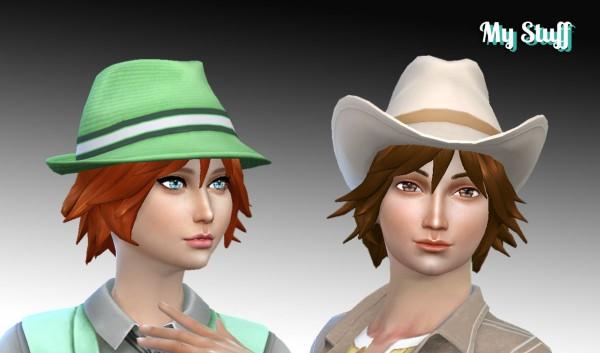 Mystufforigin: Adrien Hairstyle for Sims 4