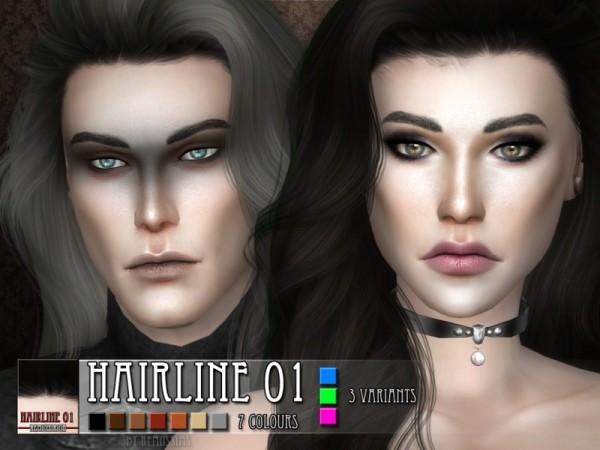 The Sims Resource: Hairline 01by RemusSirion for Sims 4