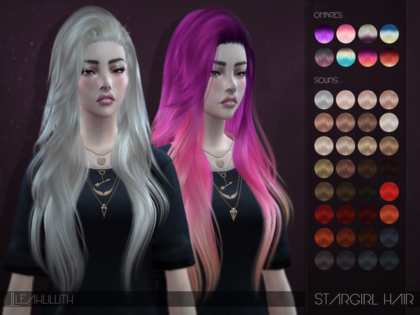 The Sims Resource: Stargirl Hair by LeahLillith for Sims 4