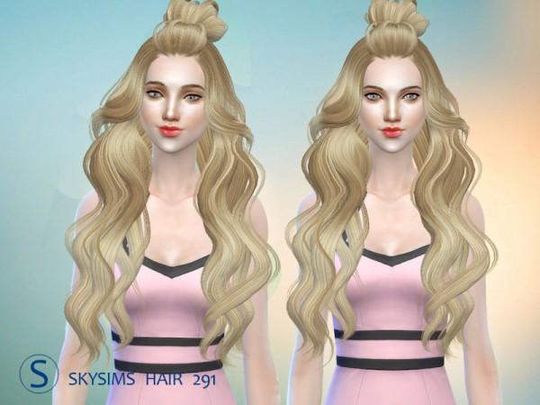 Butterflysims: Skysims 291 hair for Sims 4