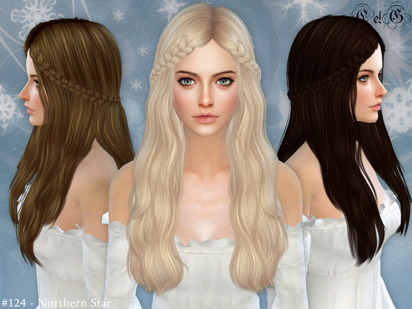 The Sims Resource: Northern Star   Conversion Hairstyle by Cazy for Sims 4