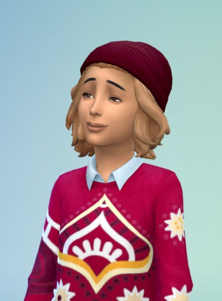 Birksches sims blog: Sloping Bun hairstyle for Sims 4