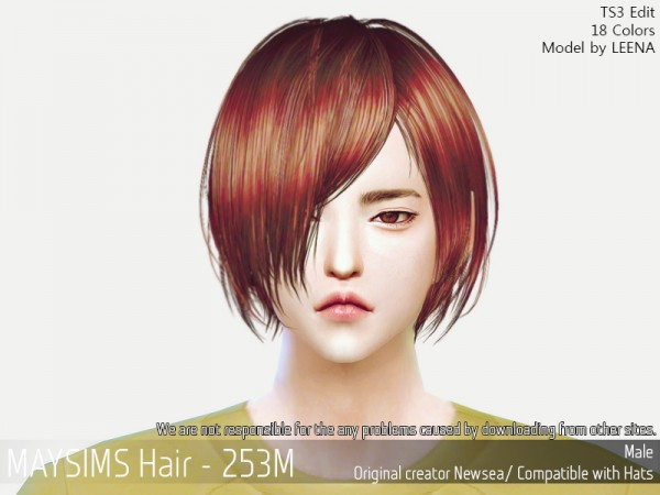 MAY Sims: May 253M hair retextured for Sims 4