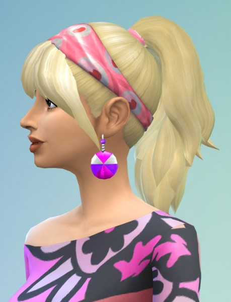 Birksches sims blog: City Ponytail hair for Sims 4